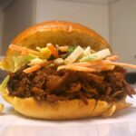 Saucy pulled pork with slaw